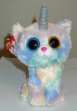 Ty Beanie Boos - HEATHER the Unicorn Kitty Cat / Unikitty  N