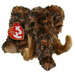"Ty Giganto Wooly Mammoth 7"" Stuffed Animal Beanie Babies Plu"