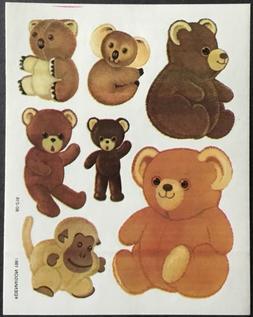 Vintage Stickers - Stuffed Animals - Teddy Bears - Dennison