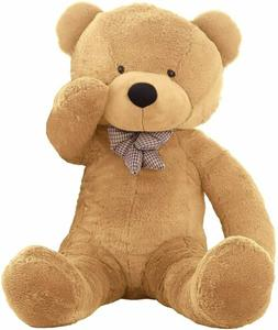 "WOWMAX® Giant Teddy Bear Birthday Gift 47"" Light Brown"