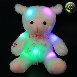 Wewill 30 Minutes Timer Stuffed Cuddly Baby Lamb Glow with L