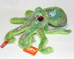 "Wild Republic Green Glitter OCTOPUS 12"" Plush Stuffed Ocean"