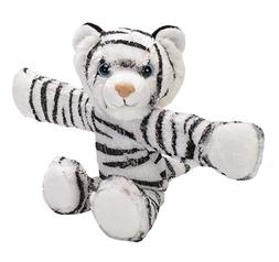 Wild Republic Huggers, White Tiger Plush Toy, Slap Bracelet,