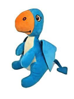 """World Plush Cretaceous Critters 8"""" Blue Pteranodon Plush Din"""