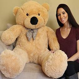 Yesbears Giant Teddy Bear 5 Feet Tan Color Ultra-Soft