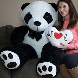 Yesbears 5 Foot Giant Panda Bear Ultra Soft Paws Embroidery