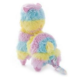adorable beautiful colourful plush rainbow alpaca toy