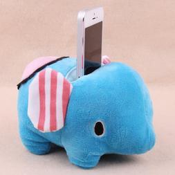 Adorable Elephant Shape Plush Mobile Phone Sofa / Bean Bag H