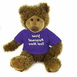 Plushland Adorable Frankie Bear 12 Inches, Stuffed Animal Pe