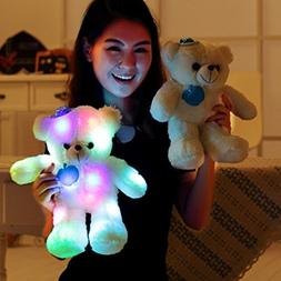 WEWILL LED Teddy Bear Glow Stuffed Animals Light up Plush To