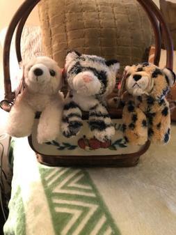 Adorable Lot 3 NWT Aurora Small Stuffed Animals/Polar Bear/W
