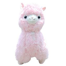 "TOLLION Adorable Pink Alpaca Llama Lamb Toy -14"" Stuffed Ani"