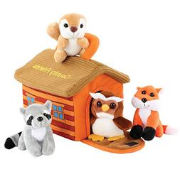 Hoovy Adorable Plush 'Country Friends' Animals Toy Set f