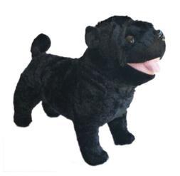 """ADORE 12"""" Standing Rascal the Farting Pug Dog Stuffed Animal"""