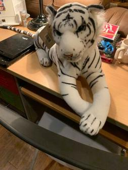 "Albino White Tiger 33""w/ Tail  Stuffed Plush Soft Animal D"