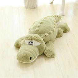 BIBITIME Alligator Green Gator Plush Stuffed Animal Toy Anim