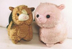 """Alpaca Llama Plush 6-7"""" Stuffed Animals Super Soft Pink Ta"""