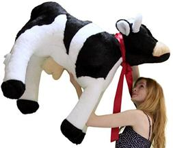 American Made Giant Stuffed Cow 3 and a Half Feet Long Big P