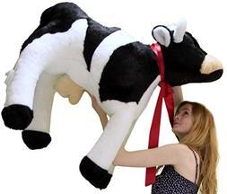 American Made Giant Stuffed Cow 3 and a Half Feet Long Big P
