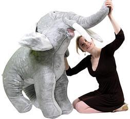 Big Plush American Made Giant Stuffed Elephant 48 Inch Soft