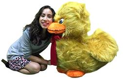 American Made Giant Stuffed Golden Brown Duck Soft 36 inches