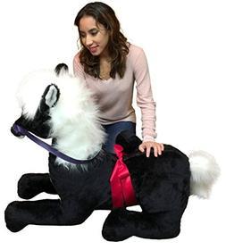 Big Plush American Made Giant Stuffed Pony 4 Feet Wide 3 Fee