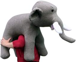 American Made Oversized Stuffed Elephant 36 Inches Gray Colo