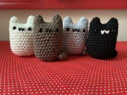Amigurumi Cat Plushies- Cat Stuffed Animals- Decoration- Gif