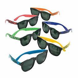 Animal Print Neon Sunglasses - Apparel Accessories - 12 Piec