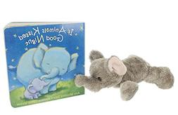 """If Animals Kissed Good Night"" Book Bundle with 7"" Aurora El"