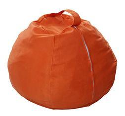 Anti Rip Canvas Orange Large Bean Bag Covers/Chair for Stuff