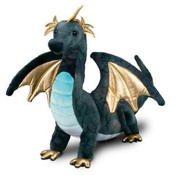 16 Inch Aragon Blue Dragon Plush Stuffed Animal by Douglas