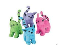 Fun Express Assorted Plush Cats  - Bulk IN-6-1477
