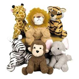 assortment suede jungle animal set of 12discontinued