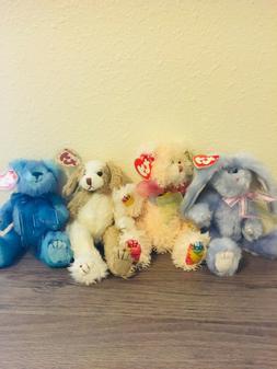 TY Attic Classics Plush Teddy Bears Lot Stuffed Animals Bean