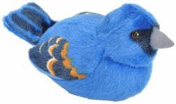 Audubon Bird Blue Grosbeak Plush w/ Authentic Bird Sound stu
