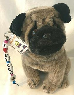 Aurora A&A Pugsley Pug Plush Stuffed Dog Puppy with Collar