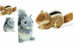 Aurora Chip The Chipmunk & Nutty The Gray Squirrel Plush Bun