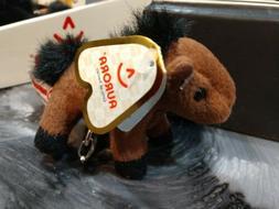 "Aurora Clip On Buddies, Horse. 4"" Stuffed Animal on Keychain"