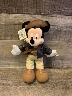 Authentic Disney Parks Mickey Mouse as Indiana Jones Plush D