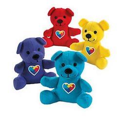 Autism Awareness Plush Bears Lot of 12 Stuffed Animal Bears