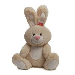 """Baby Gund Easter Soft Plush Blossom Tan Bunny 13"""" tall New w"""