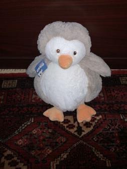 Baby Gund Chub Penguin Plush Stuffed Animal Toy Gray White P