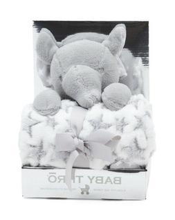 BABY THRO Elephant Plush Animal & Throw Nursery Set for Baby
