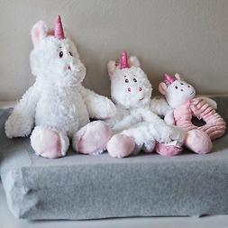 The Petting Zoo -Baby Shower Gift  Snuggler Pink Unicorn, Ra