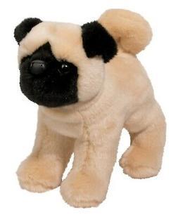 "Bardo 9"" long Pug plush stuffed animal dog puppy by Douglas"