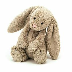 Jellycat Bashful Beige Bunny Stuffed Animal, Medium, 12 inch
