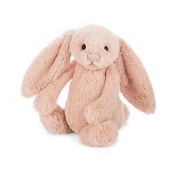 Jellycat Bashful Blush Bunny Stuffed Animal, Medium, 12 inch