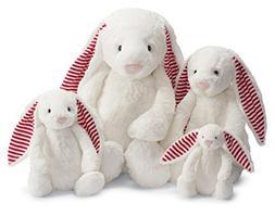 """Jellycat Bashful Candy Stripe Bunny Huge - H20"""" / White"""