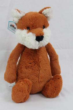 Jellycat Bashful Fox Plush Stuffed Animal NWT